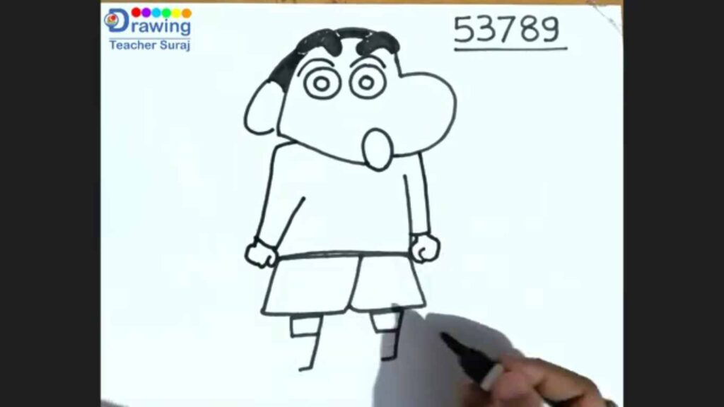 How to draw a shin chan step by step easily