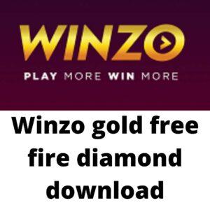 Winzo gold free fire diamond download