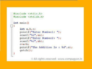 Simple C Program for Addition